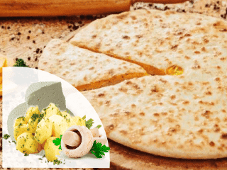 заказать осетинские пироги с сыром, картофелем и грибами